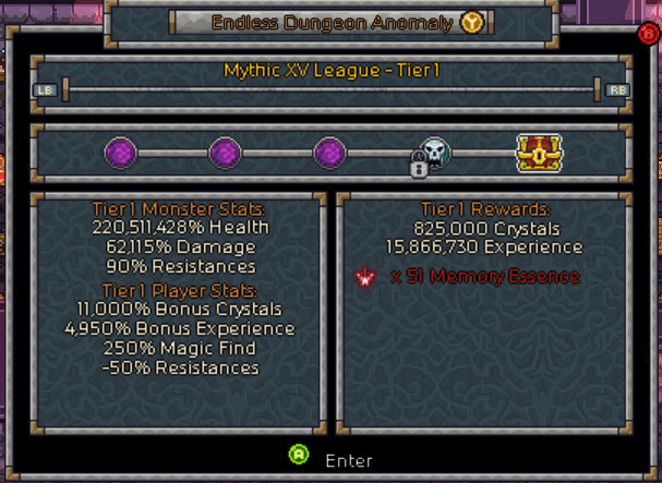 Endless Dungeon Anomaly